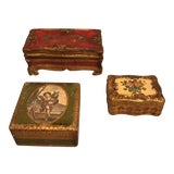 Image of Italian Florentine Wood Boxes - Set of 3 For Sale