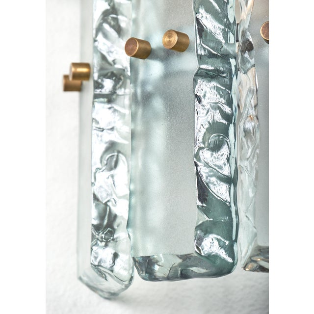 Pair of Vintage Murano Glass Fontana Arte Sconces For Sale In Austin - Image 6 of 8