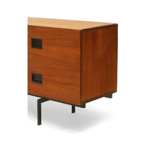 Mid-Century Modern Dutch Teak Sideboard by Cees Braakman for UMS-Pastoe, 1958 For Sale - Image 3 of 4