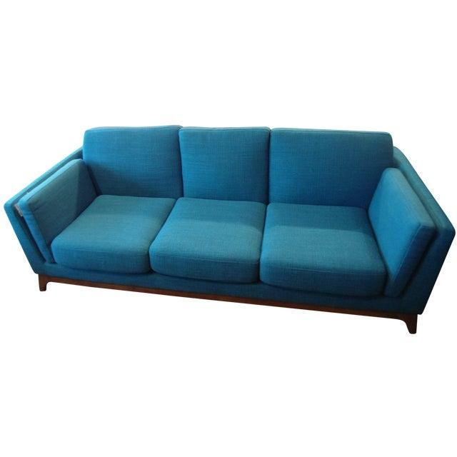 Ceni Lagoon Blue 3 Seat Sofa For Sale