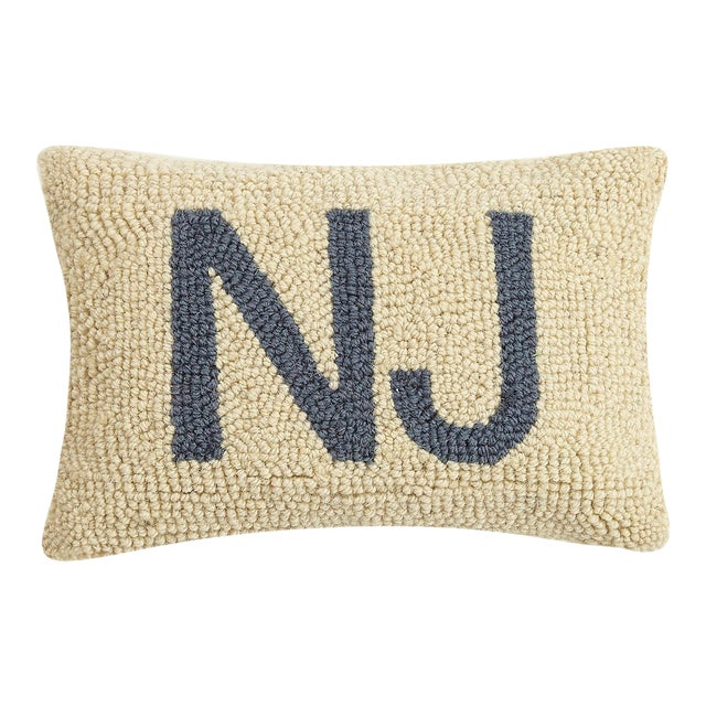 """New Jersey Hook Pillow, 8"""" x 12"""" For Sale"""