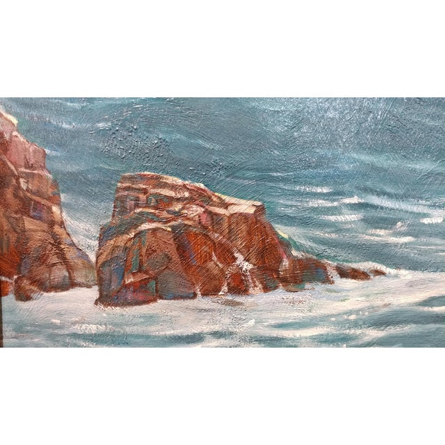 "Paul Youngman ""Pacific Grove California Seascape"" Original Oil Painting For Sale - Image 5 of 10"