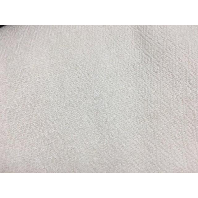 White Tassel Cashmere Blend Blanket - Image 3 of 11