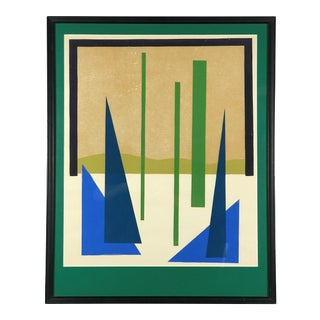 Mid 20th Century Modern Abstract Forest Landscape Print For Sale