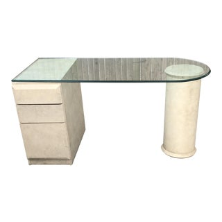 Lane Contemporary Glasstop Desk
