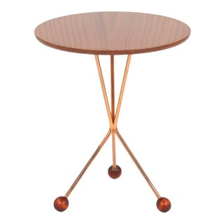Vintage Swedish Tripod Side Table by Albert Larsson For Sale