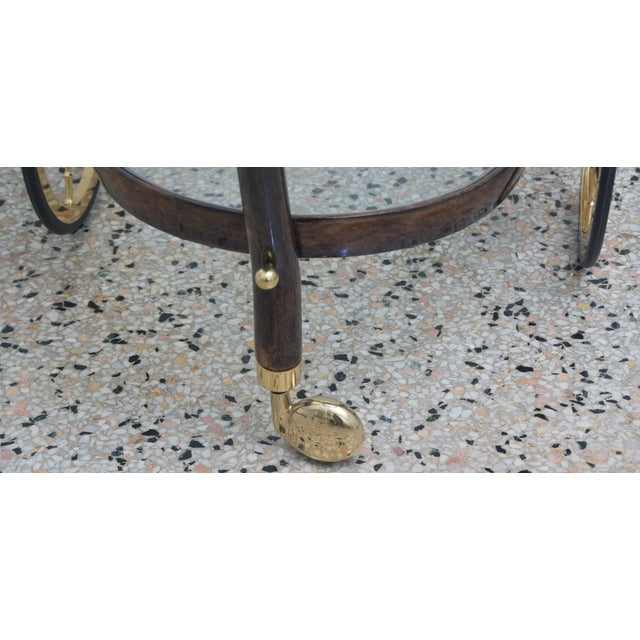 Mid-Century Modern Goat Skin Bar Cart by Aldo Tura For Sale In West Palm - Image 6 of 9