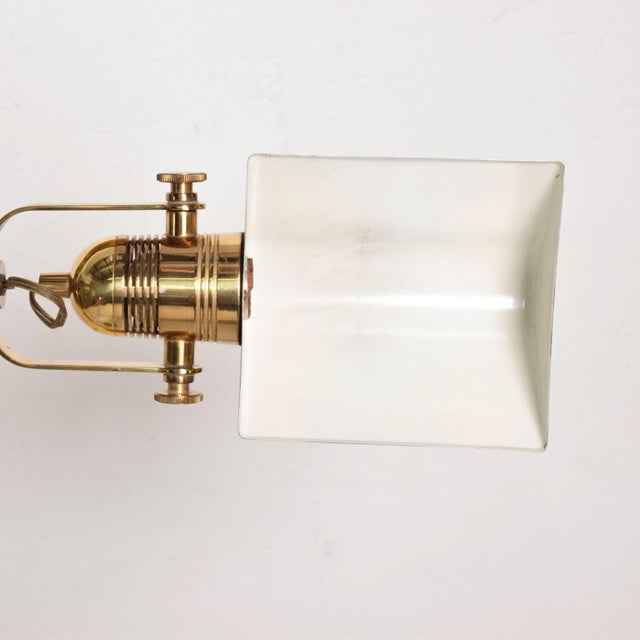 Mid-Century Modern Brass Task Pharmacy Reading by Lamp Nessen For Sale - Image 10 of 11