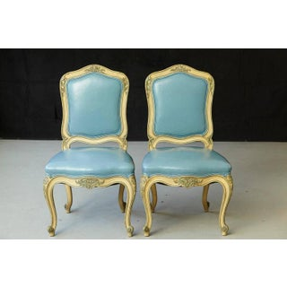 1950s Vintage French Louis XV Style Side Chairs- A Pair Preview