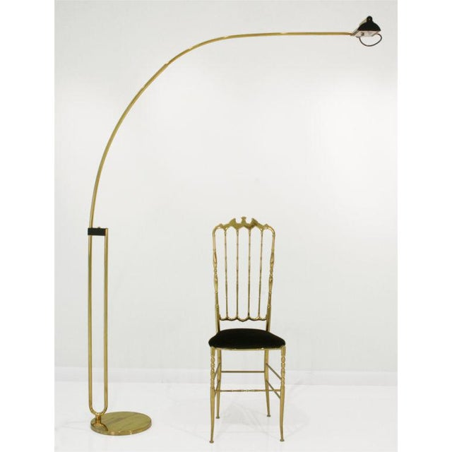 Lovely Relco Hairpin Arc Boom Halogen Floor Lamp Decaso