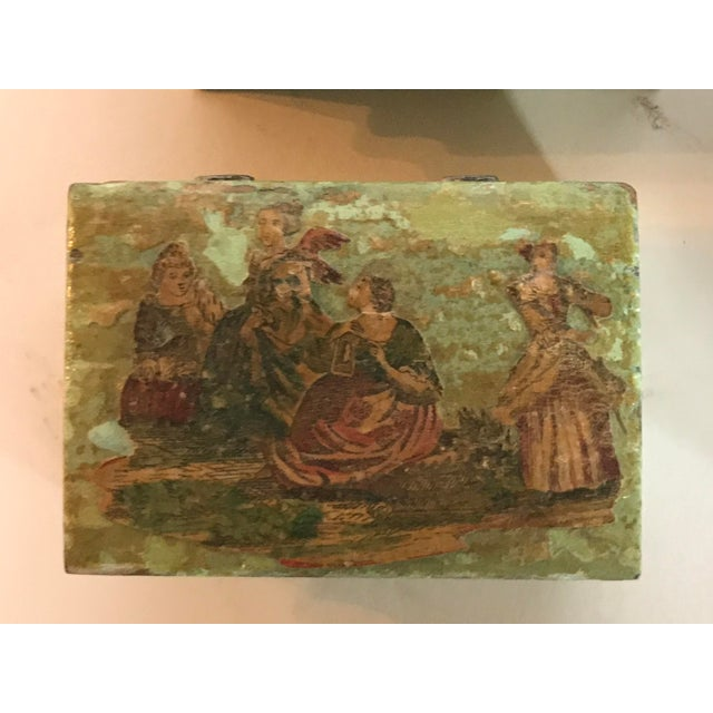 Traditional Green Dresser Boxes - Set of 4 For Sale - Image 6 of 10