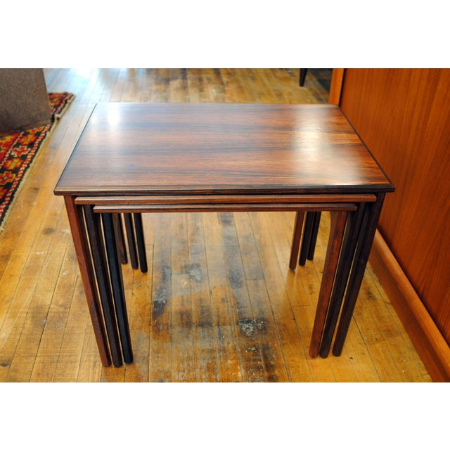 Danish Rosewood Nesting Tables - Set of 3 - Image 7 of 9