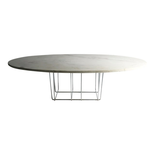Marble & Chrome Coffee Table - Image 1 of 9