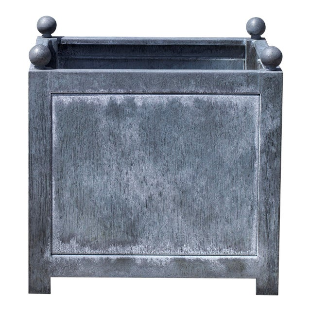 Square Norbury Planter, Small, Zinc For Sale