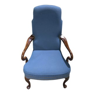 Ethan Allen Upholstered Arm Chair With Nailheads For Sale