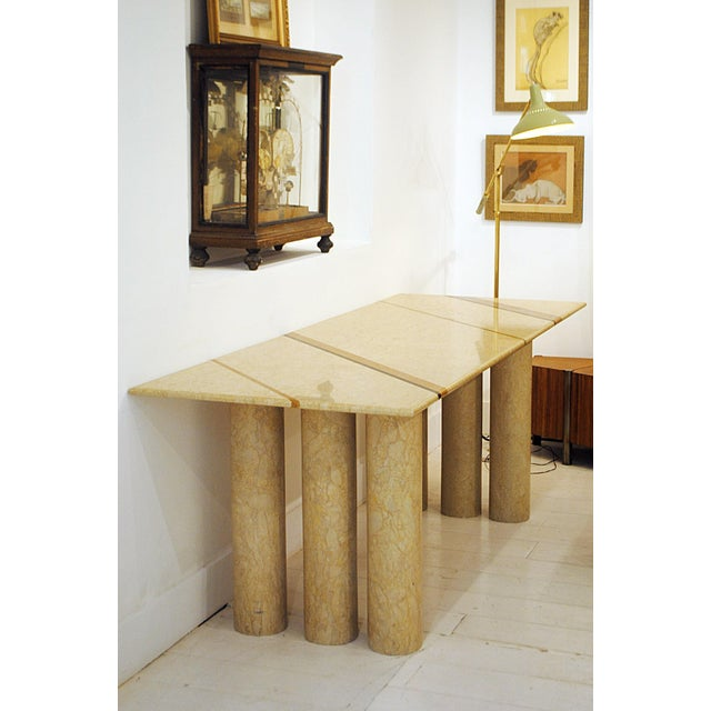 """1970s Late 1970s """"Colonato"""" Marble Dining Table Designed by Mario Bellini For Sale - Image 5 of 5"""