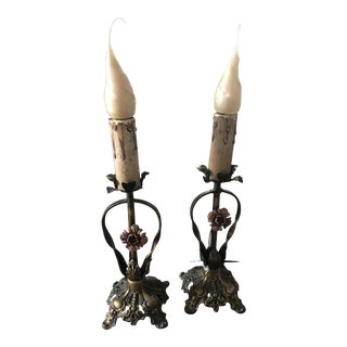 1890's Antique Lamps - a Pair