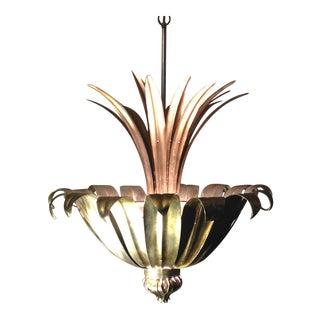 Modern Italian Silver Leaf Pendant For Sale