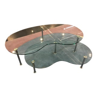 Kidney Bean Shaped Nesting Tables - A Pair