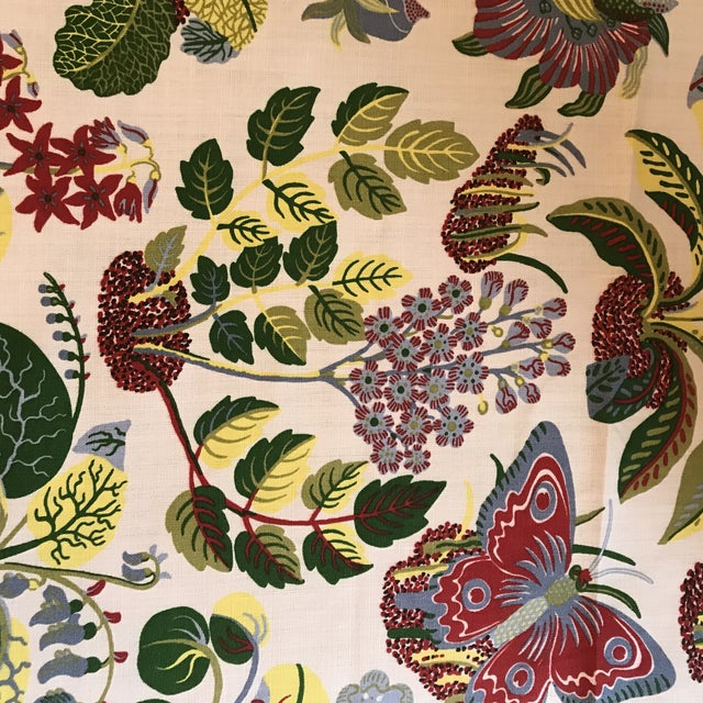 13 1/2 yards of Exotic Butterfly by Schumacher. All one continuous role. Highly sought after. Collection: GOOD-VIBRATIONS...