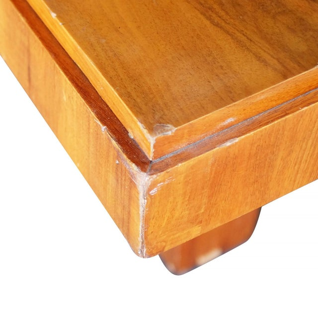 Chocolate Charles Dudouyt Cubist Inspired Walnut Desk For Sale - Image 8 of 10