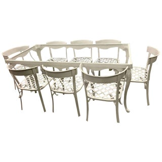 Klismos Patio Set in the Style of Billy Haines - Set of 9 For Sale