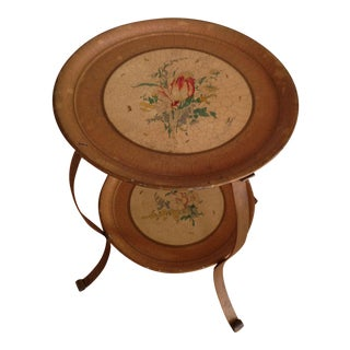 1910s French Tole Tray Table For Sale
