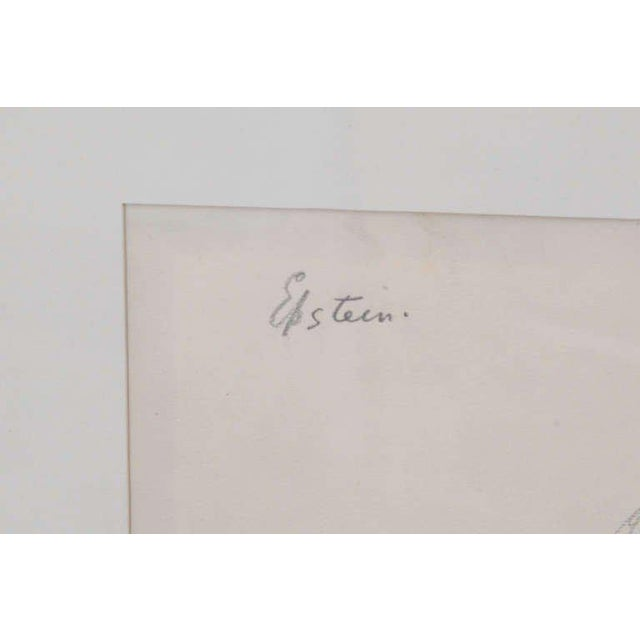 Illustration Sir Jacob Epstein Pencil Drawings For Sale - Image 3 of 5