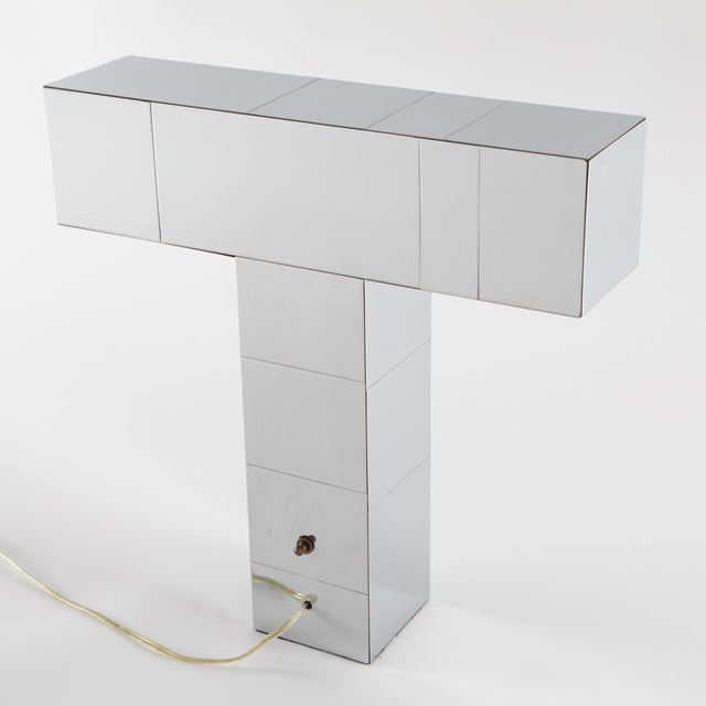 "Mid-Century Modern 1970's Paul Evans Chrome ""Cityscape"" Table or Desk Lamp For Sale - Image 3 of 13"