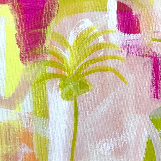 """Abstract """"Palms in Paradise"""" Contemporary Painting For Sale - Image 3 of 5"""