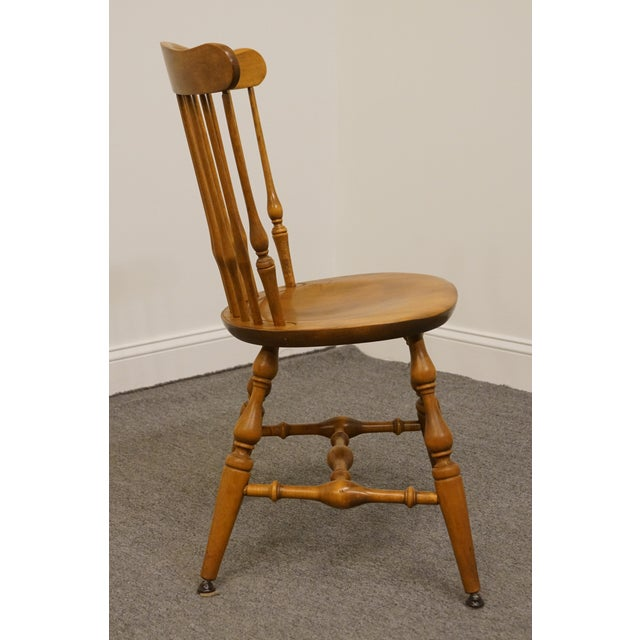 Wood Late 20th Century Vintage Nichols & Stone Solid Maple Spindle Back Dining Side Chair For Sale - Image 7 of 10