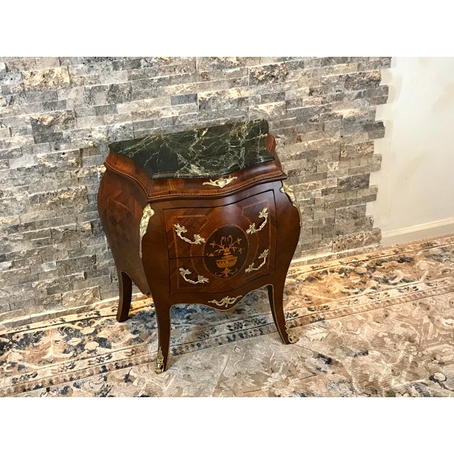Gold Louis XV Empire Marble Top Side Table For Sale - Image 8 of 10