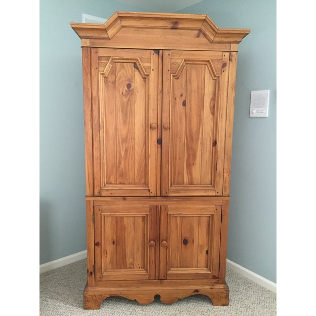 Ethan Allen Wooden Armoire - Image 8 of 9