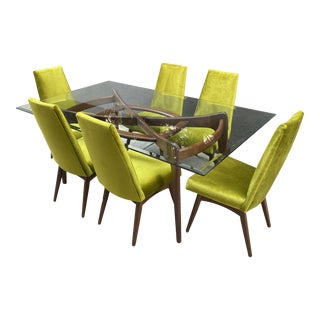 1960s Mid-Century Adrian Pearsall Craft Associates Dining Set - 7 Pieces For Sale