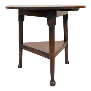 English Oak Triangular Cricket Table For Sale