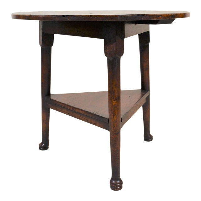 English Oak Triangular Cricket Table For Sale