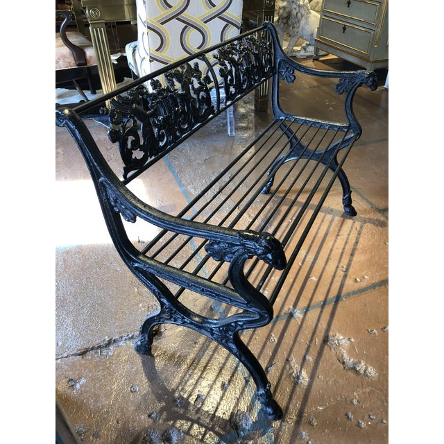 Neoclassical Iron Bench by German Architect Fred Shingle For Sale - Image 4 of 13