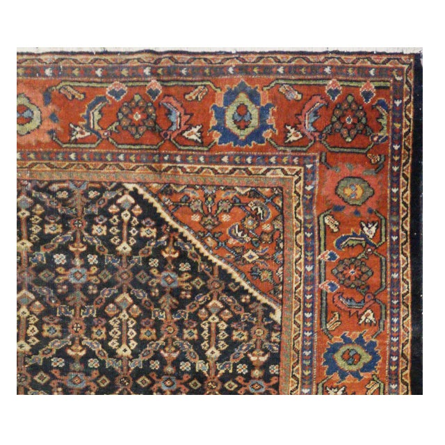 Islamic Persian Mahal Rug - 7′10″ × 11′5″ For Sale - Image 3 of 4