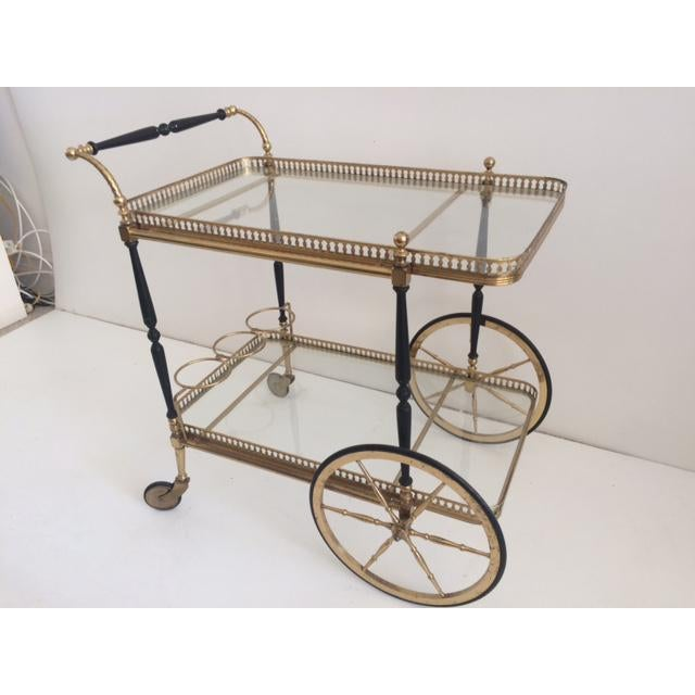 French Bar Cart From the 1940's For Sale - Image 4 of 10