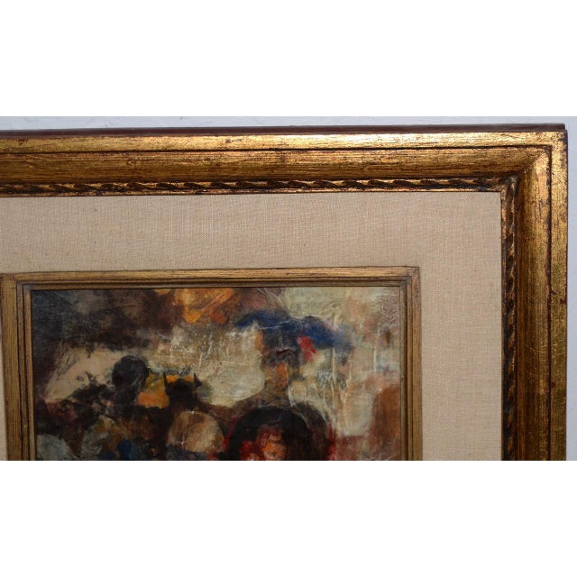 Abstract Marsh Nelson (American, Mid 20th C.) Mixed Media Abstract Composition C.1967 For Sale - Image 3 of 8