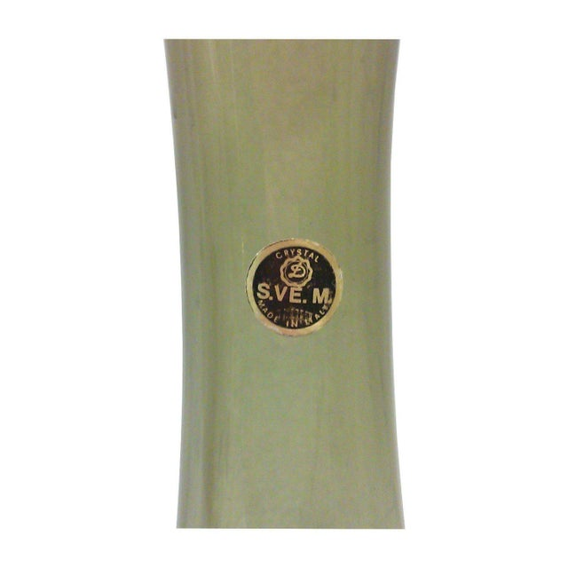 Vintage Italian Smoked Glass Tapered Vase - Image 2 of 2