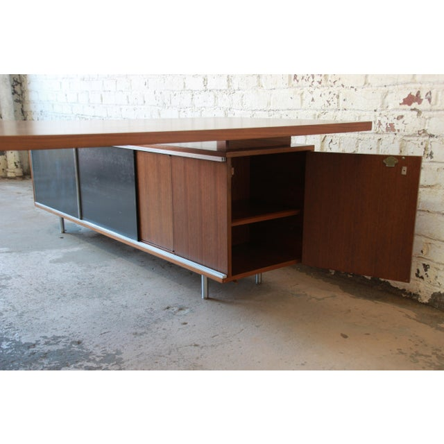 George Nelson for Herman Miller L-Shaped Executive Desk, 1950s For Sale - Image 9 of 13