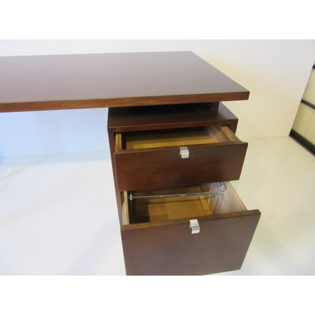 Silver George Nelson for Herman Miller Walnut Desk For Sale - Image 8 of 10