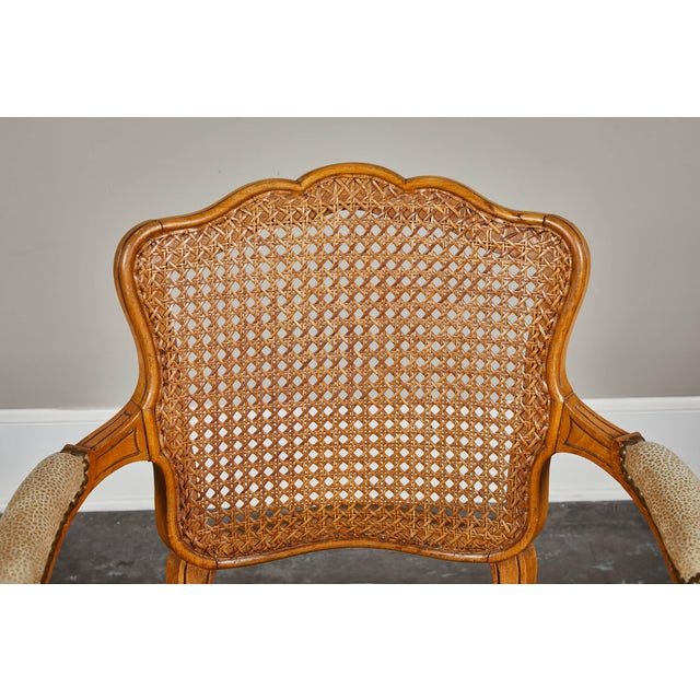 French 19th Century Louis XV Style Caned Armchairs - Set of 4 For Sale - Image 3 of 11