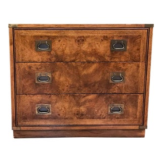 Mid Century Signed, Hickory Campaign Chest of Drawers