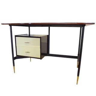 Mid-Century Writing Desk in Mahogany and Lacquer, Italy circa 1955 For Sale