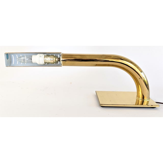 1970s Brass Tubular Desk Lamp by Jim Bindman for Rainbow Lamp Co. 1970s For Sale - Image 5 of 13