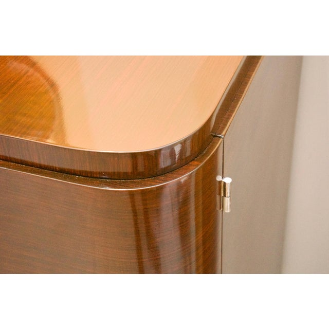 French Art Deco Mahogany Buffet Cabinet For Sale - Image 9 of 11