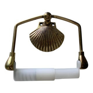 Brass Sea Shell Toilet Paper Holder For Sale
