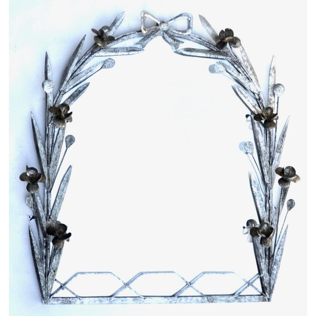 Exquisite metal framed botanical mirror, large and heavy, beautiful artisan workmanship and would make an exceptional...
